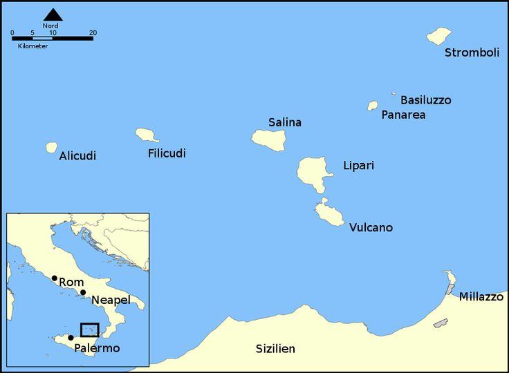 Eoliska öarna - karta