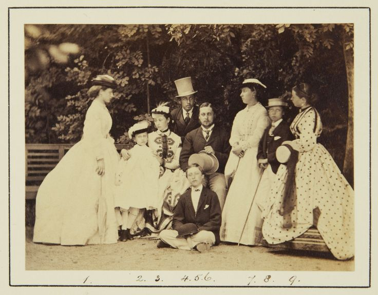 The nine children of Queen Victoria and the Prince Consort at the Rosenau, Coburg, 1865 [in Portraits of Royal Children Vol.9 1865] | Royal Collection Trust