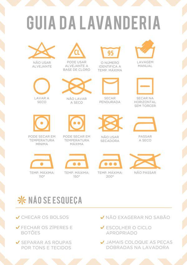 Decifrar aqueles desenhos das etiquetas deroupas na hora de lavar não é tarefa fácil. Pensando nisso, preparamos um quadrinhocom os principais significad
