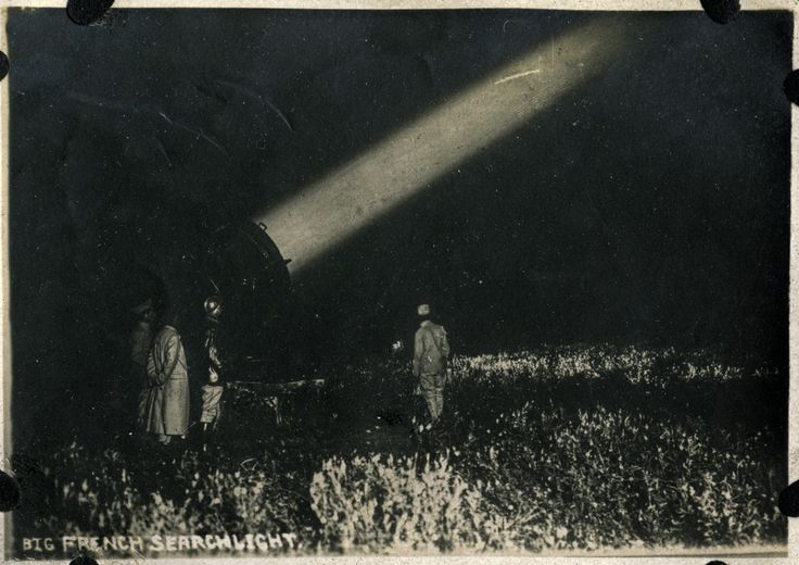 "WWI. ""Big French Searchlight."" -Madison Historical Society, Flickr"