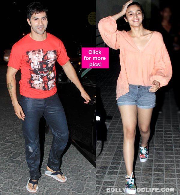 Alia Bhatt and Varun Dhawan catch a movie together