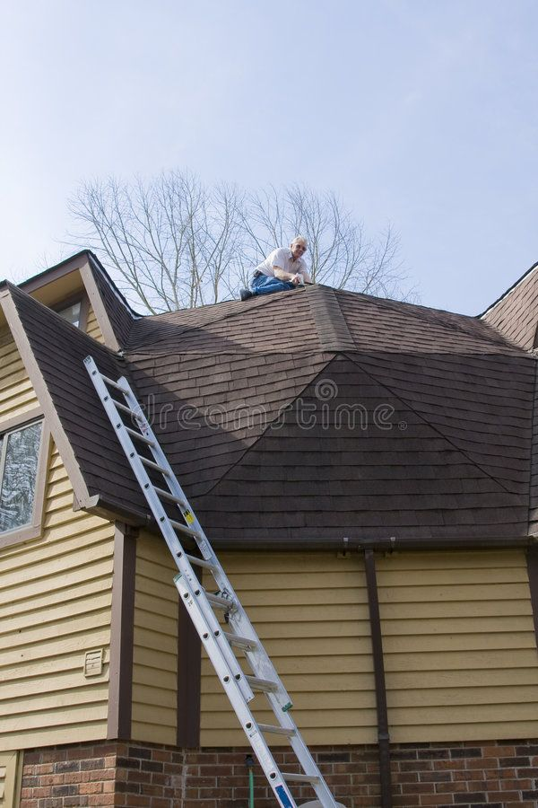 Roof Inspector Check For Damage After Recent Wind Storms Many Roofs Were Damag Aff Check Damage Roof Stock Images Free Vintage Graphic Design Roof
