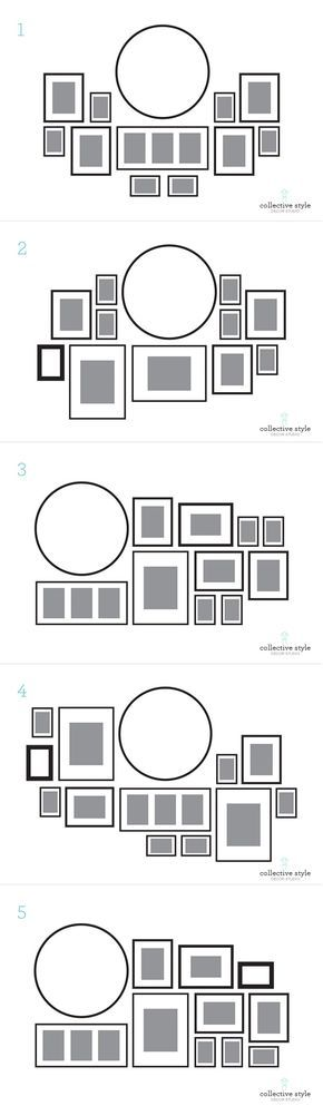 Gallery wall layouts Acomodos para muros con cuadros