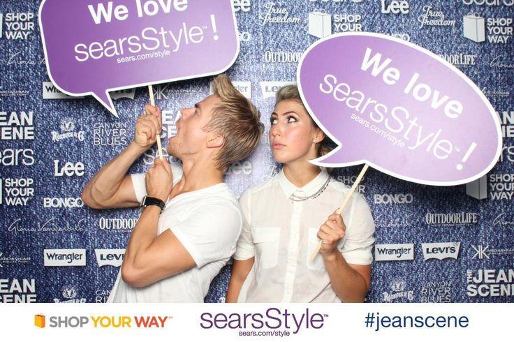 Emma Slater: @Derek Imai Hough @searsStyle #jeanscene