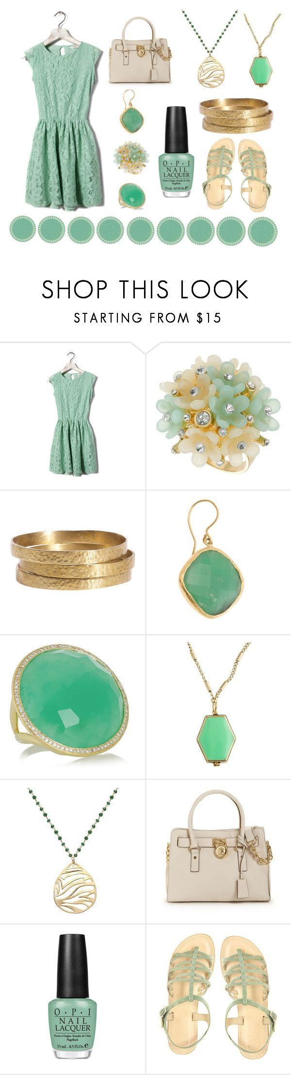 """""""Minty green (:"""" by jessw-1226 ❤ liked on Polyvore featuring Pull&Bear, Dorothy Perkins, Jigsaw, Ram, Ippolita, J.Crew, Lola James Jewelry, Michael Kors, OPI and ASOS"""