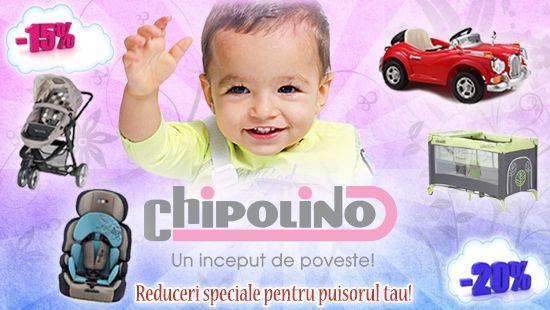 Reduceri la Produsele Chipolino. http://kidmagazin.ro