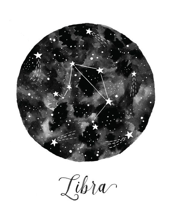 Libra Constellation Illustration - Vertical