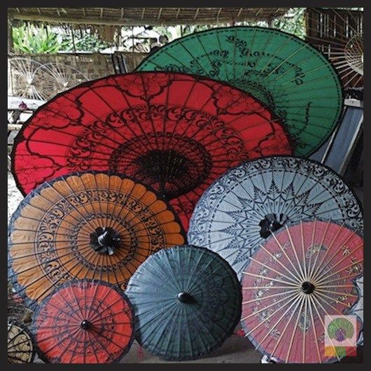 Burmese parasols are popular among Myanmar ladies and foreigners. They are originally from Pathein, the capital of Ayeyarwaddy Division over a hundred years ago. Reason why they are also called Pathien umberalla. Theyare hand-painted and lacquered so that they can withstand sun shine and rain. You can also use them for interior decoration.   #MyanmarParasol #Pathein