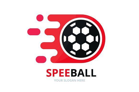 Vector Fast Soccer Logo Combination Soccer Logo Professional Logo Design Logos