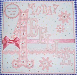 Poppyscabin: Baby Girl's First Birthday card