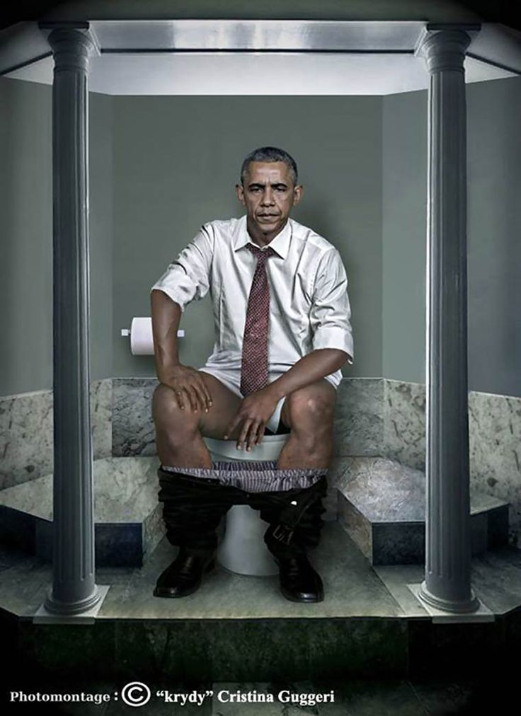 Barak Obama Photo Montage ©Cristina Guggeri