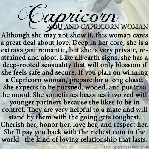 dating a capricorn woman yahoo Dating capricorn woman - this online dating site is for you, if you are looking for a relationship, sign on this site and start chatting and meeting people today.