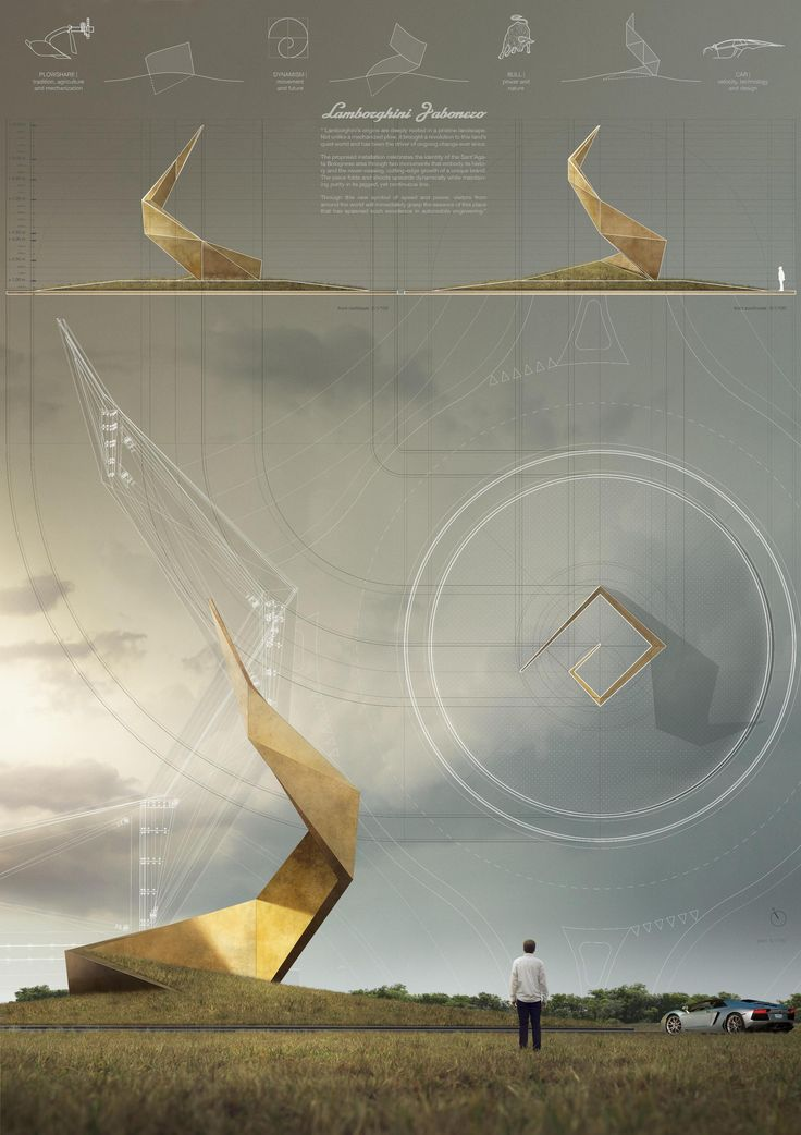 Image 8 of 115 from gallery of YAC Announces Winning Projects for Two Road Monuments Celebrating Lamborghini's Legend. TEAM ACQ studio. Image Courtesy of YAC
