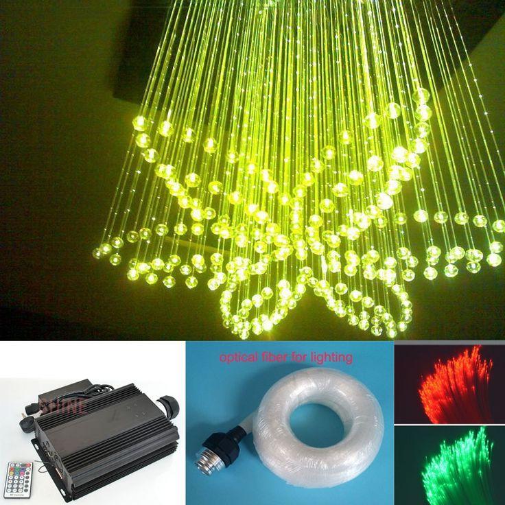 (274.12$)  Buy here - http://ail15.worlditems.win/all/product.php?id=32652812164 - NEW 90w RGB LED optical fiber lighting 0.75mm 600pcs*3m+300pcs*2m Fiber optic chandelier LED dmx light engine light source