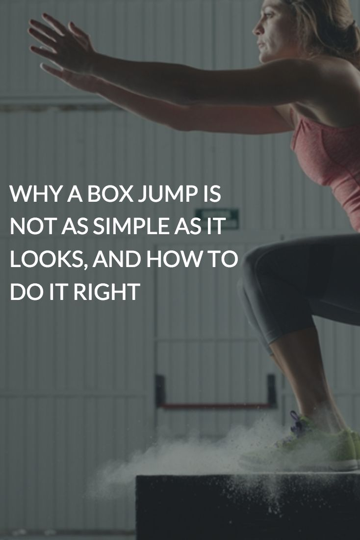 The box jump is an exercise that seems pretty self-explanatory. As in, jump up? Onto the box? But it's a more advanced movement than you may think, explains Julia Avery, an instructor at New York City interval training workout studio The Fhitting Room. #boxjump #crossfit #workout