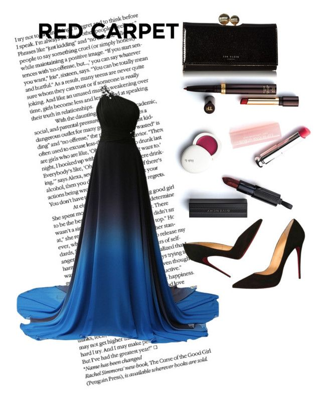 """red carpet"" by kleefashion on Polyvore featuring Christian Dior, Christian Louboutin and Ted Baker"