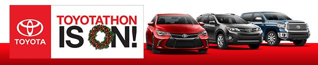 Toyotathon is happening right now! Take advantage of special pricing on your favorite Toyota models like the Camry, Prius and Tacoma. This is the biggest sale of the year so act now before the event comes to an end! See our full Toyota inventory at www.toyotafwb.com.
