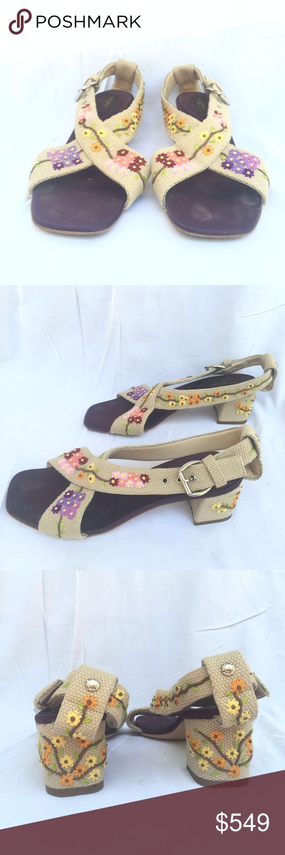 Louis Vuitton Limited Edition Women's Mules Louis Vuitton Limited Edition Women's Mules  Silk And Linen  Size EU 37 US 7 Very good condition. Look at the pictures Louis Vuitton Shoes Mules & Clogs