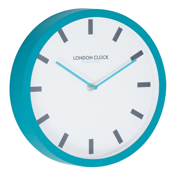 Pop Teal Wall Clock