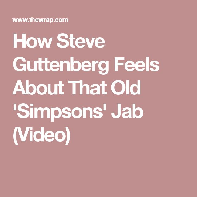 How Steve Guttenberg Feels About That Old 'Simpsons' Jab (Video)