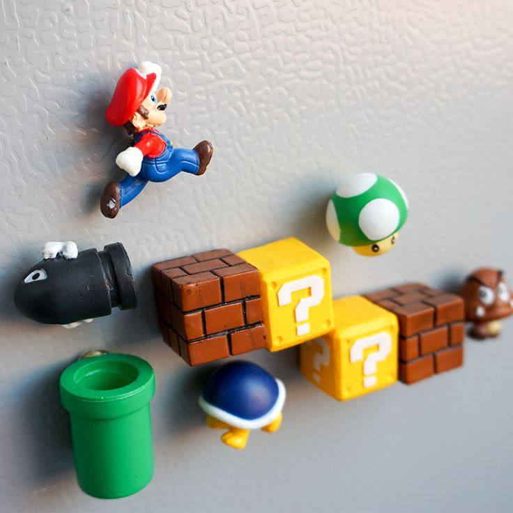 Cheap magnetic sticker, Buy Quality magnetic refrigerator directly from China refrigerator magnet stickers Suppliers: 10 only 3D cute super Mario decorated children's stereo magnet creative magnetic stickers refrigerator to stick home accessories