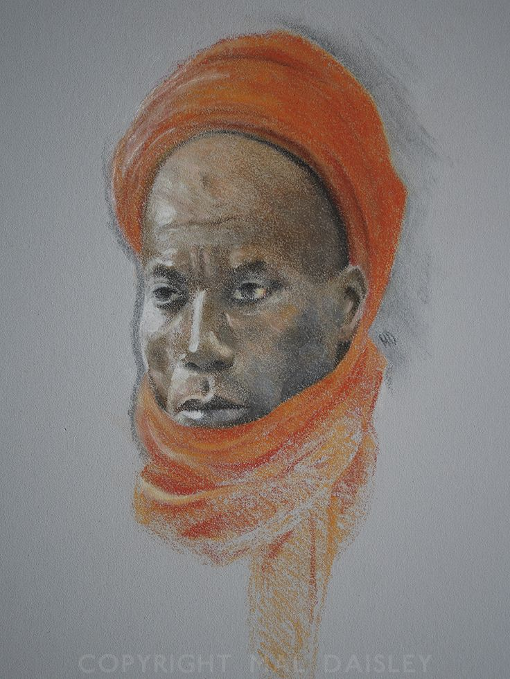 'A Man of Nigeria'. Pastel pencil