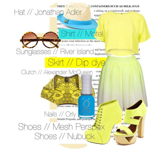 """Yellow Summer"" by tobiashansen on Polyvore"