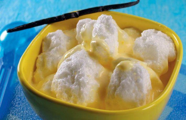 Lapte de pasare cu vanilie si rom