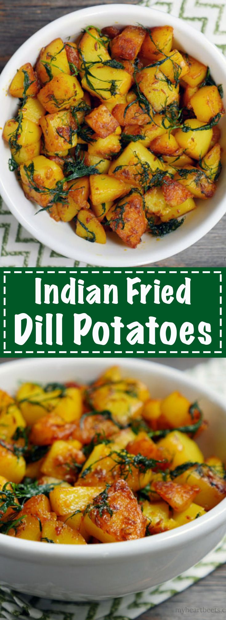 Indian Fried Dill Potatoes on MyHeartBeets.com
