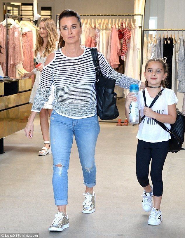 Quick stop: Kyle Richards took a look around the West Hollywood store…