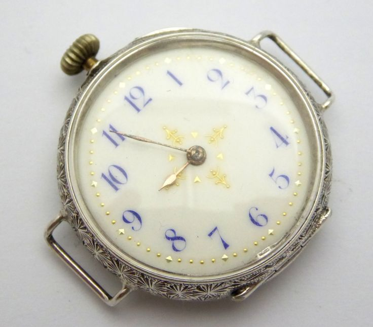 Antique Swiss Fancy Silver Cased Pocket Watch Wrist Watch Converted Needs Work - The Collectors Bag