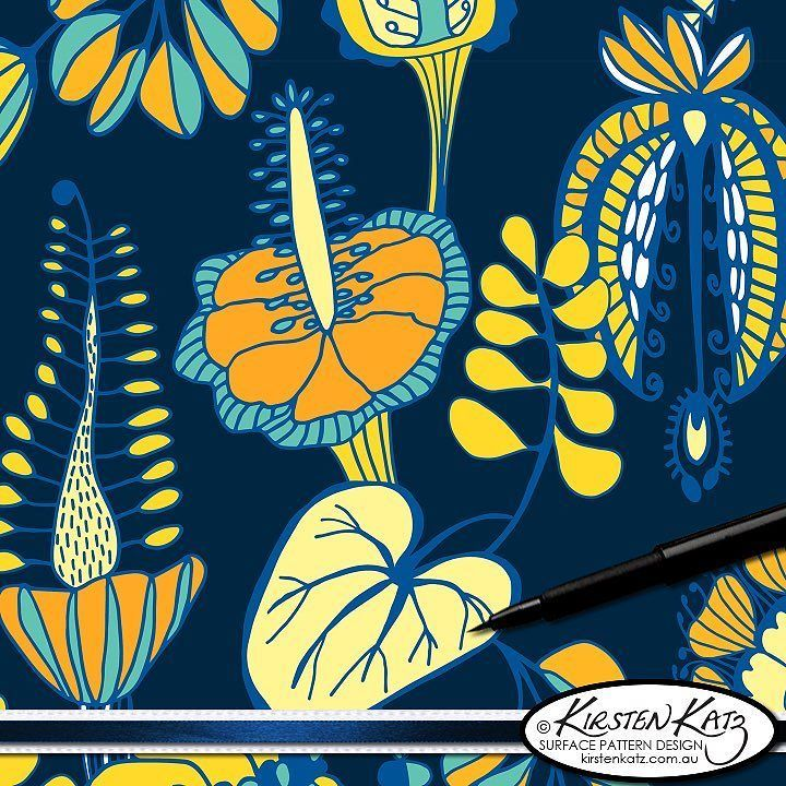 My Summer Tropique design which is available on @spoonflower printed on a variety of fabrics via this link http://ift.tt/2iuaupe