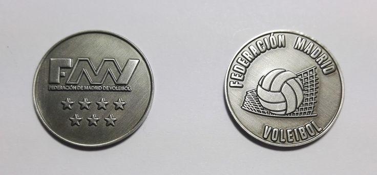 Monedas Personalizadas para Federación de Voleibol de Madrid  http://www.fichas-monedas.es/monedas-personalizadas.html