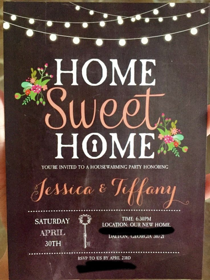 Our Housewarming Invitations!