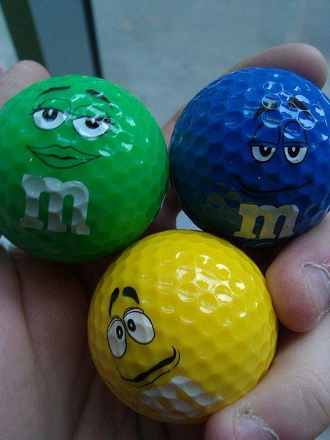 M's golf balls