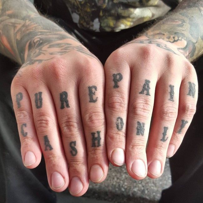 381 best finger tattoos images on pinterest arm tattoos for Knuckle tattoo font