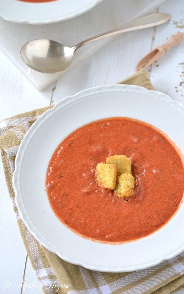 Copycat Panera Bread Creamy Tomato Soup.