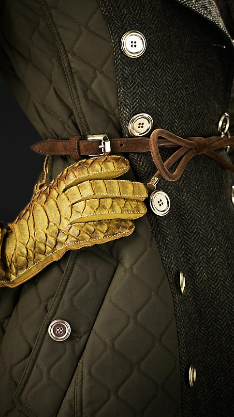 """Burberry Blanket Quilt Trench Coat. .................My style statement: """"On matters of style, swim with the current, on matters of principle, stand like a rock."""" ― Thomas Jefferson"""