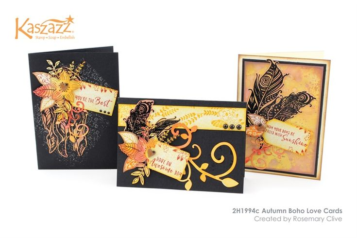 2H1994c Autumn Boho Love Cards
