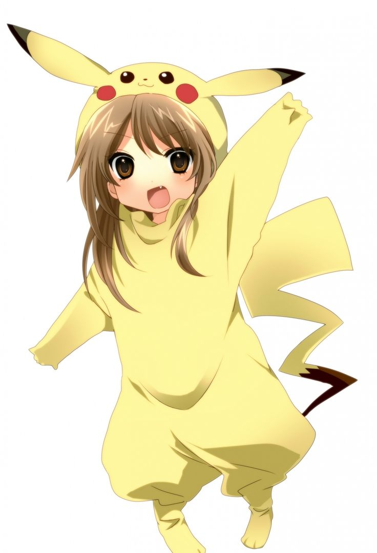 Картинки аниме девушка в костюме пикачу