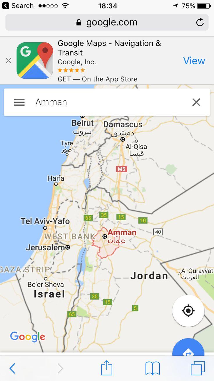 Amman, Jordan Amman, Tel avivyafo, Google maps