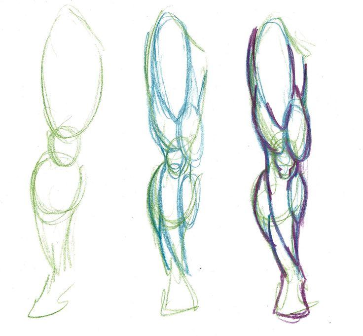 leg muscles drawing - photo #2