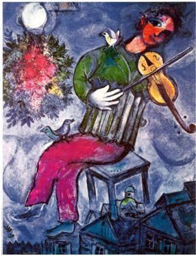 Marc Chagall (1887-1985) - Le violoniste bleu - 1947 - Collezione privata