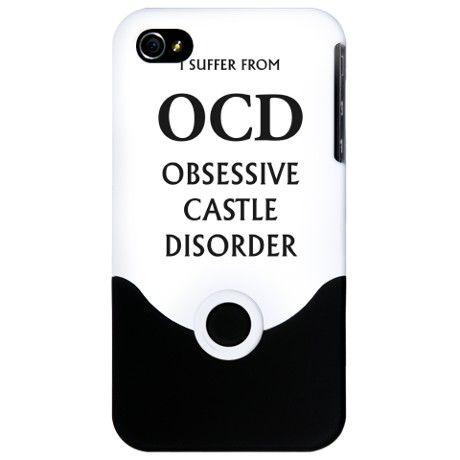 OCD iPhone 4 Slider Case Castle TV show  $24.50