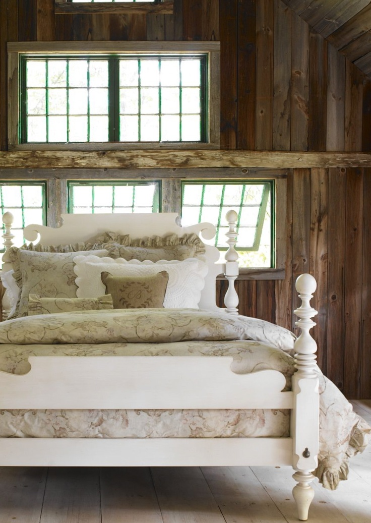 98 best images about french country barn ideas on for Rustic cottage bedroom