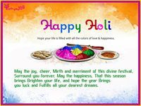 Happy Holi Wishes Image with Message Holi Greetings Picture with SMS By Poetrysync