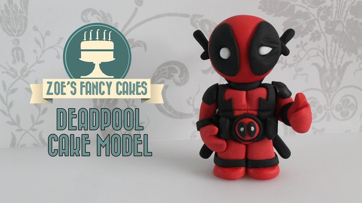 Deadpool model: fondant Deadpool cake topper using gum paste or fimo new...