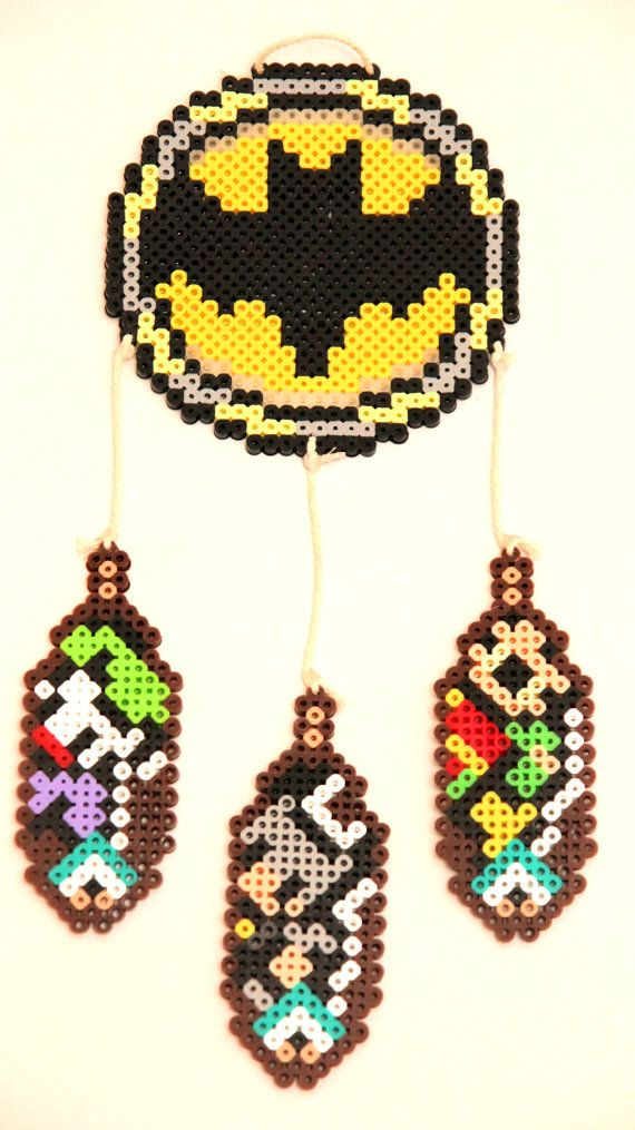 463 best perler superhero images on pinterest hama for Dreamcatcher beads meaning