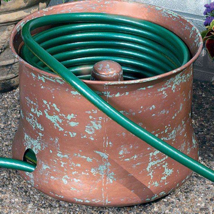 CobraCo® Copper Cylinder Hose Holder - Hose Reels at Hayneedle