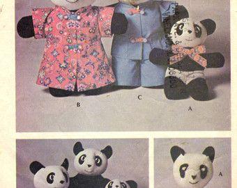 Artículos únicos para patrón de costura de panda | Etsy